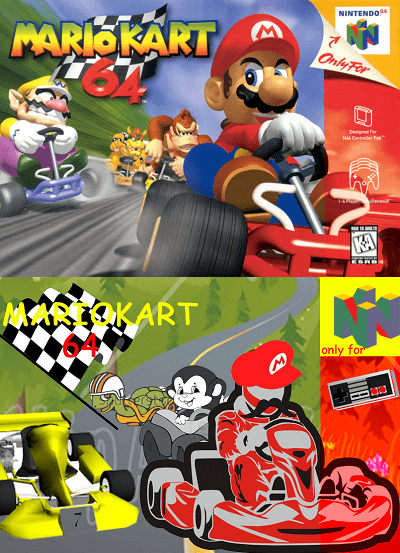 Cartoon - NINTENDO4 PARIOKART Only For Designe or NH Cantreler F KA MAREOKART only for
