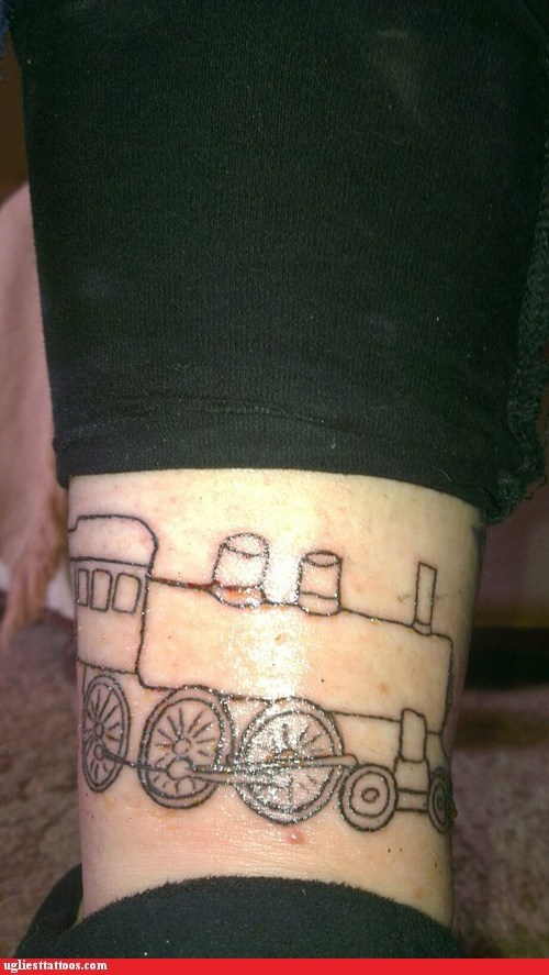 trains,mass transportation,g rated,Ugliest Tattoos