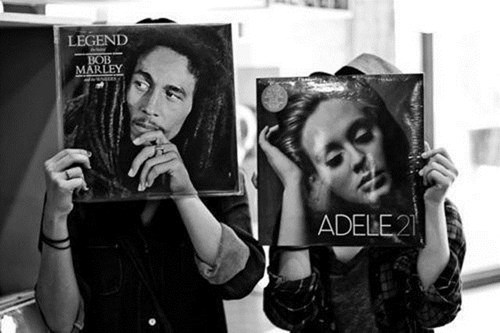 bob marley adele vinyl records - 7376507392