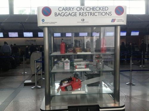 security chainsaws airports baggage