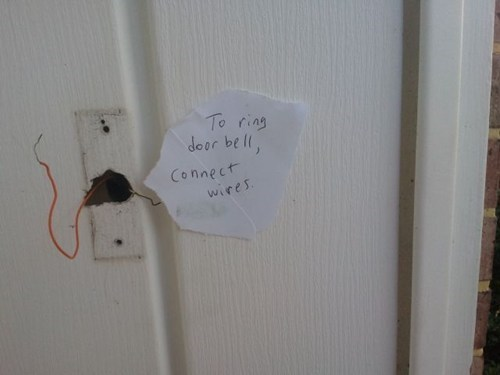 wires door bells notes g rated there I fixed it - 7376557312