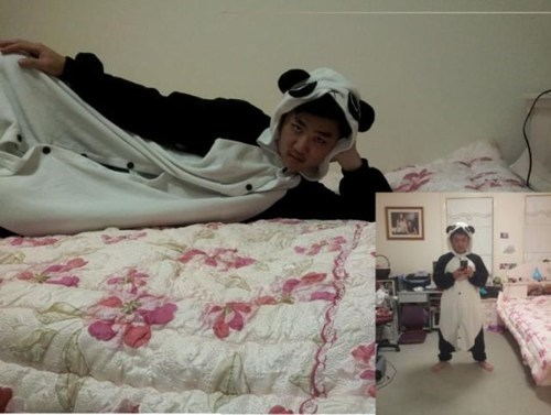 cute,pajamas,panda bears
