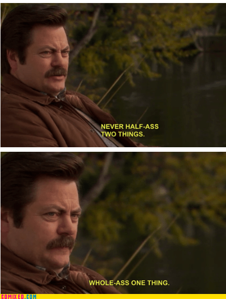 ron swanson,try,advice