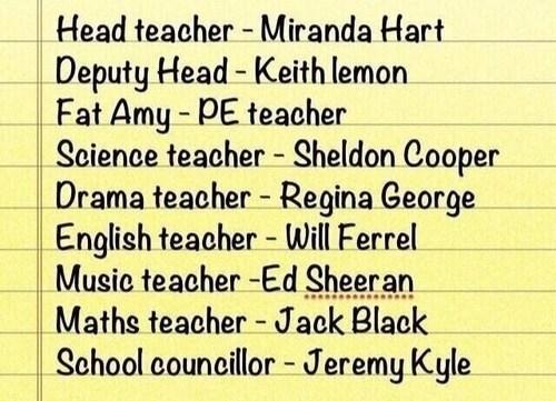 schedule teachers fictional - 7376933888