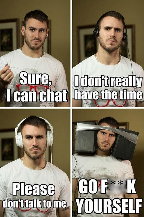 ignoring,headphones,duct tape