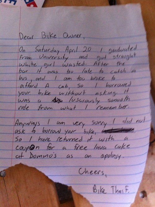 bike thief restoring faith in humanity week after 12