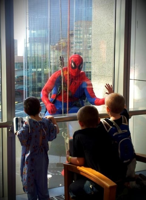 hospital,Spider-Man,restoring faith in humanity week