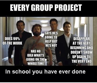 class,group projects,breakdown