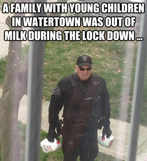 cops milk restoring faith in humanity week lock downs monday thru friday - 7377202688