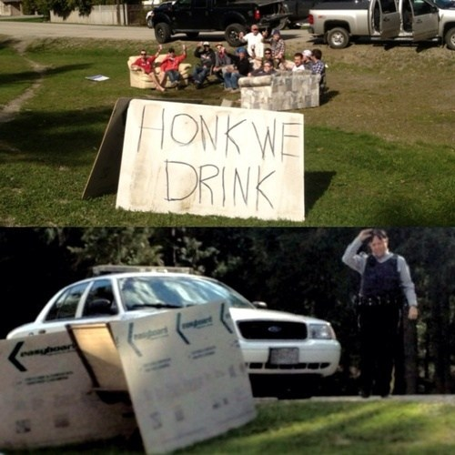 cars drinking drinking games police honk - 7377409024