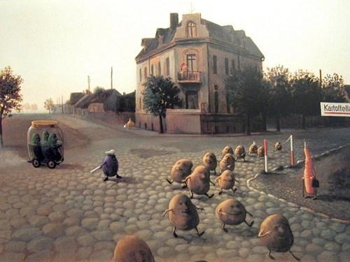 wtf art pickles potatoes - 7377494016