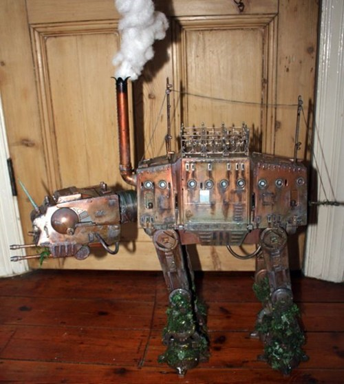 Steampunk,star wars,nerdgasm,at at