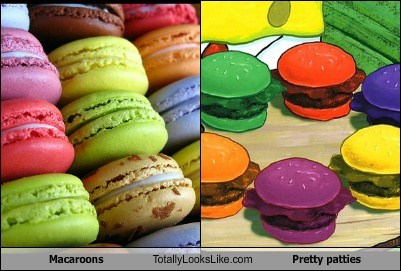 macaroons,totally looks like,pretty patties,food