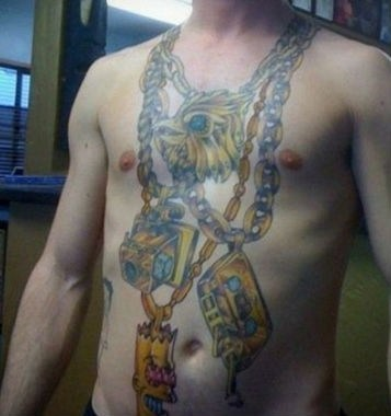 necklaces chains chest tattoos - 7377675520