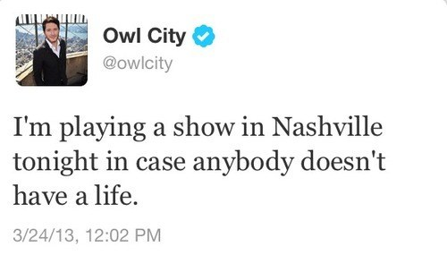 owl city,twitter,adam young,tweets,dumb jokes,failbook