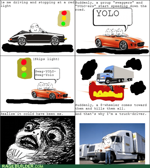 yolo red light swag car crash car accident trucks - 7377852672