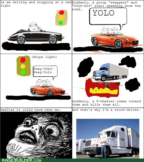 yolo red light swag car crash car accident trucks - 7377852672