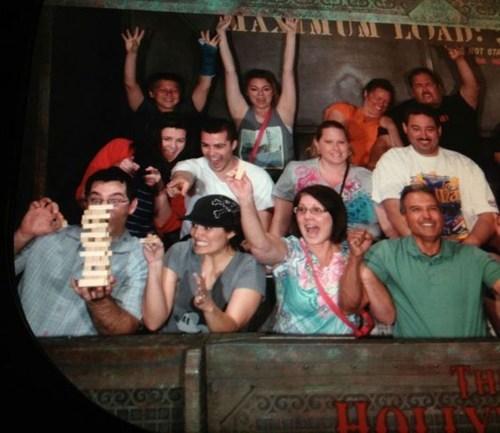 balance amusement park jenga roller coaster
