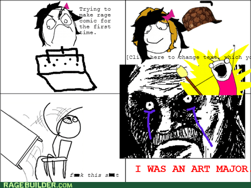 making rage comics,art major