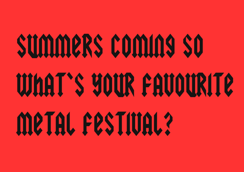 festivals summer heavy metal - 7378250496