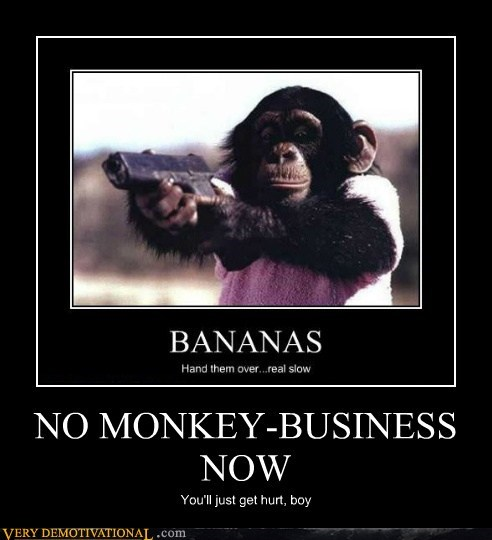 ape guns monkey business funny - 7379051008
