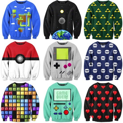 sweatshirts,gameboys,video games,poorly dressed,g rated