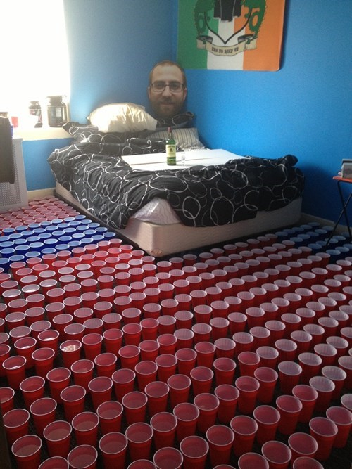 cups pranks liquor