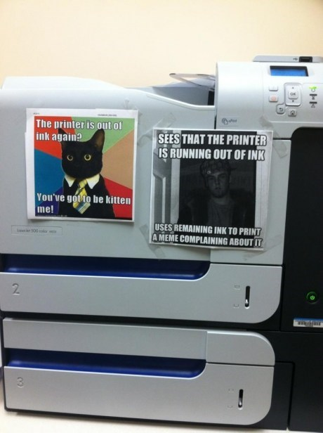 printers,Business Cat,Memes