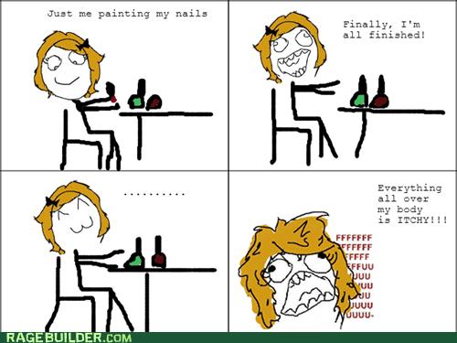 nail polish,itch