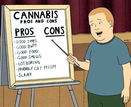 pros and cons,drugs,marijuana,King of the hill