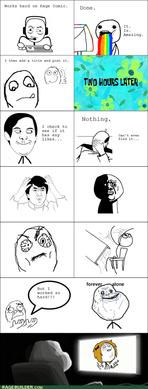 making rage comics oh god why rainbow guy - 7380437760