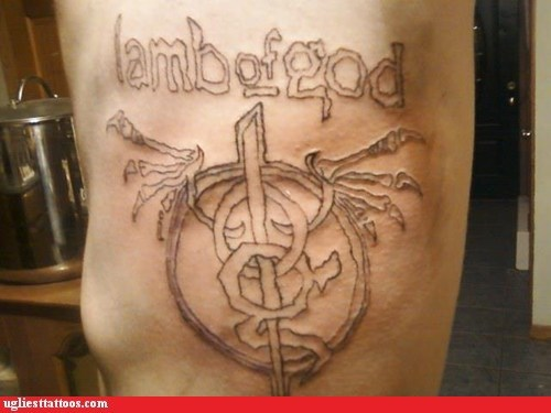 band logos heavy metal lat tats lamb of god