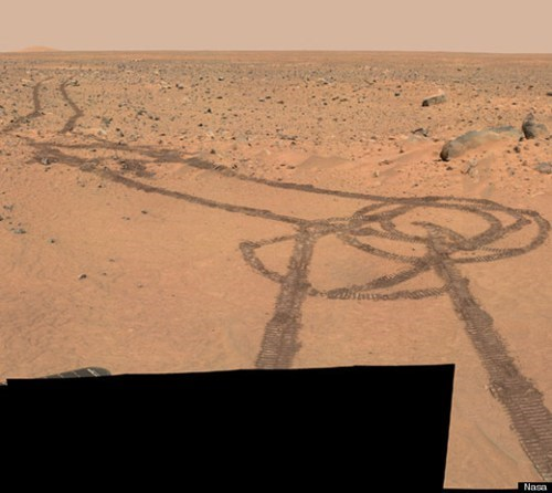 This Isn't Photoshopped of the Day: NASA Mars Rover Accidentally Draws Penis