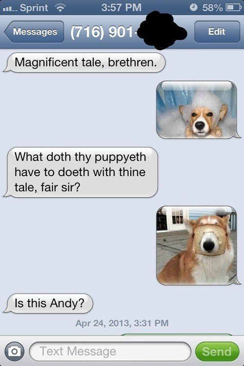 dogs wrong number iPhones - 7380642560