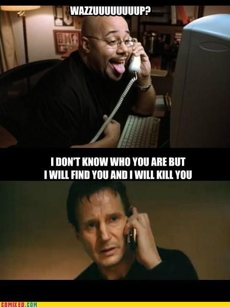 wazzup phones liam neeson prank calls - 7380713216