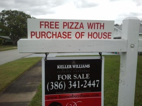 pizza,real estate,free stuff
