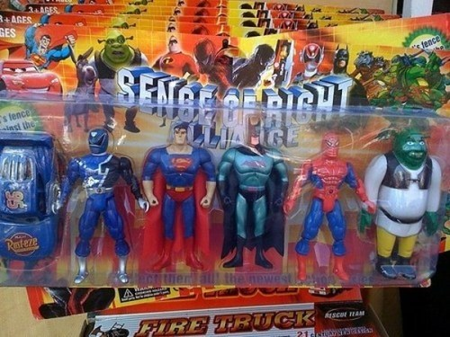 action figures engrish toys superheroes - 7380728832