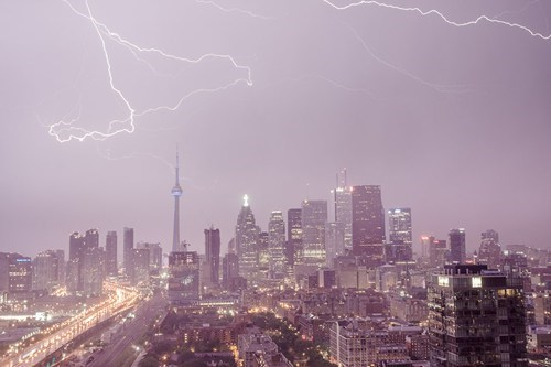 toronto,storm,cityscape,krakoom