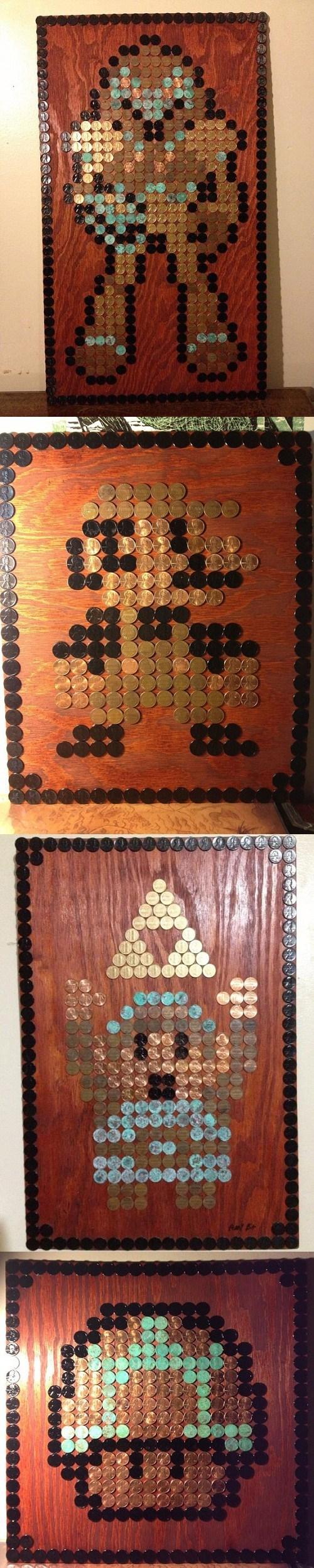 8-bit art pennies 8 bit - 7380820224