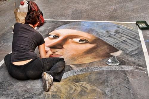 Street Art art chalk art hacked irl - 7380951808