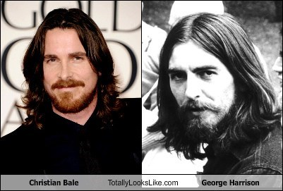 totally looks like christian bale george harrison