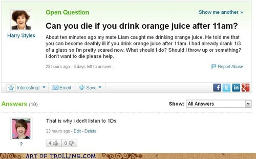 one direction yahoo answers
