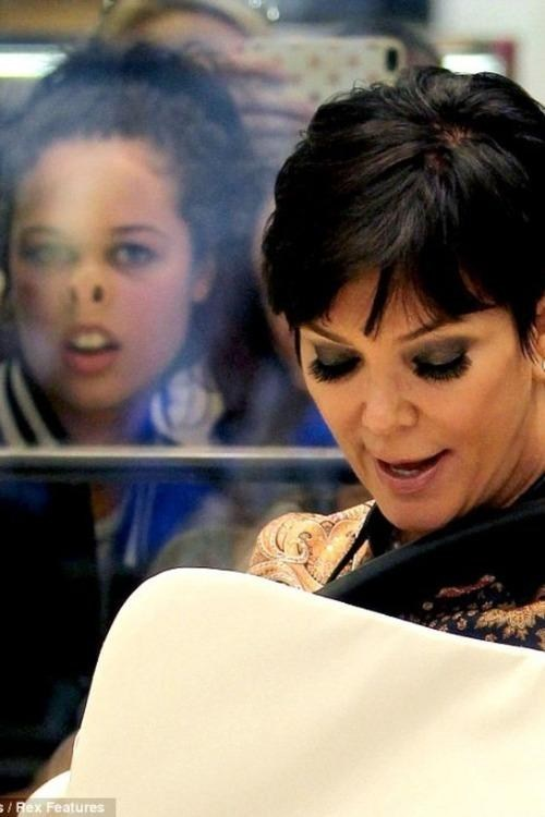 kris jenner,glass