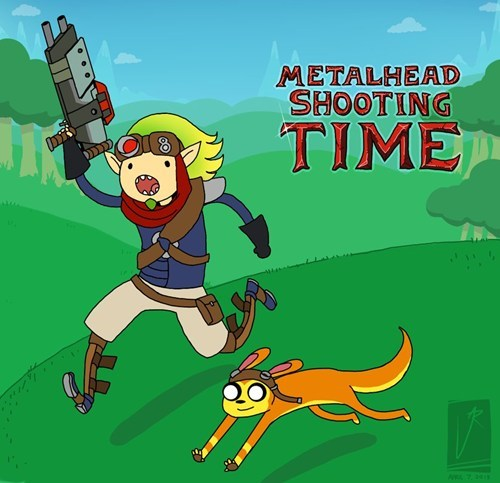 crossover jak and daxter adventure time art - 7383633664