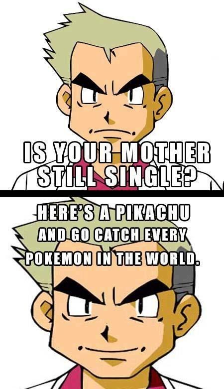Pokémon,professor oak,dating