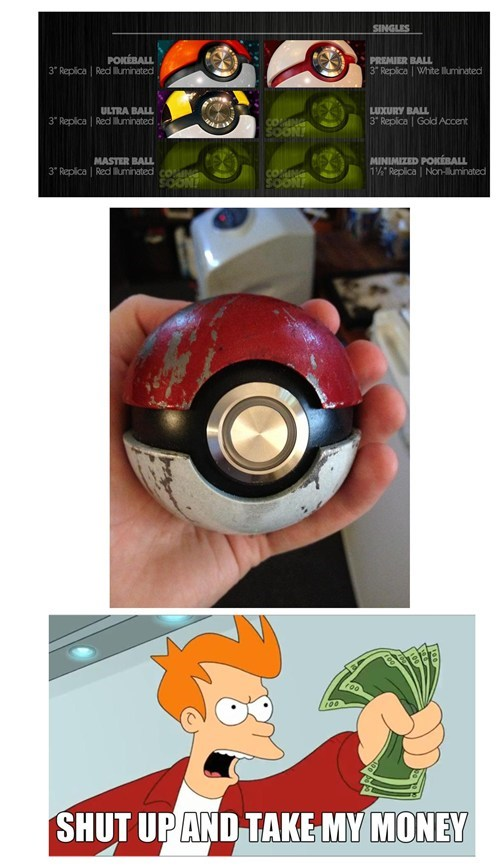 Pokémon shut up and take my money Pokeballs - 7383812352