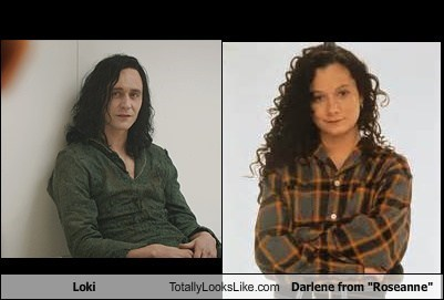 loki totally looks like darlene roseanne