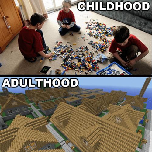 IRL childhood minecraft - 7384057088