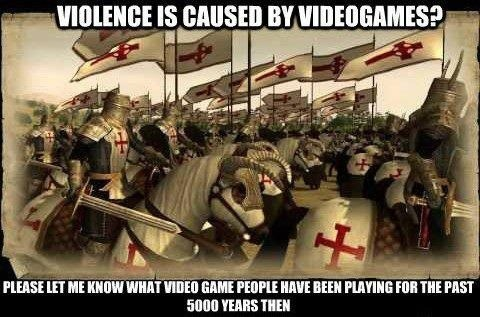 chivalry,violence,video games,logic
