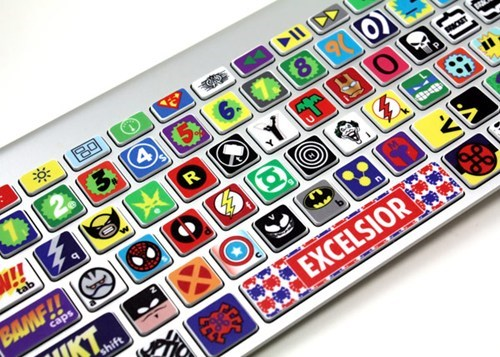nerdgasm superheroes keyboard - 7384225792